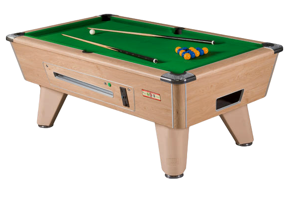 Supreme Winner Pool Table  Oak Finish